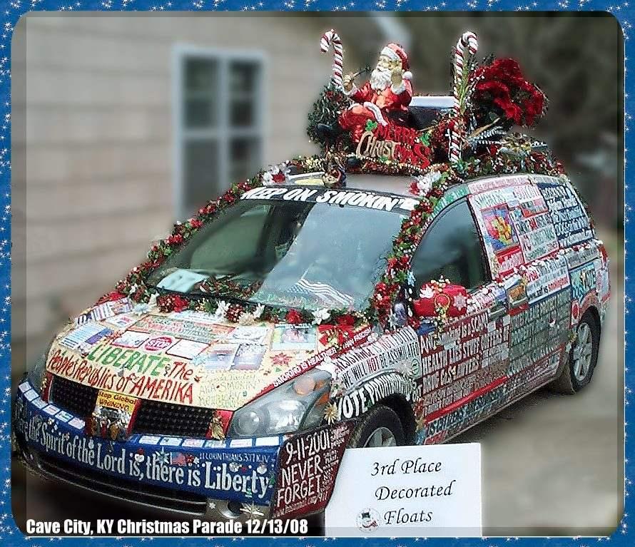 christmas parade decorations liberty van three quarter front view driver side - Christmas Car Parade Decorations