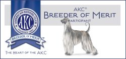 Lynda Farley has been recognized as an AKC Breeder Of Merit